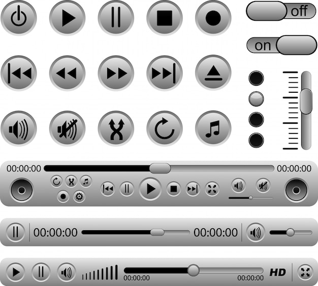 Set of music panel.