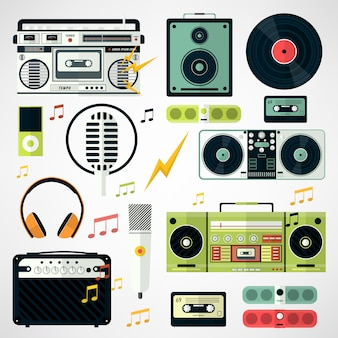 Set of music and sound icons