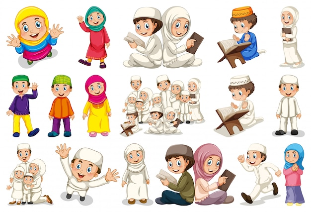 Set of muslim character