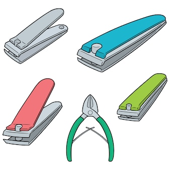 Set of nail clipper