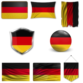 Set of the national flag of germany