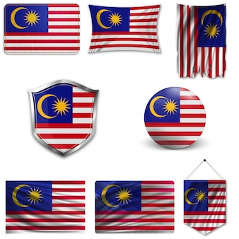 Set of the national flag of malaysia