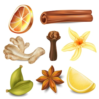 A set of natural remedies and ingredients for tea.