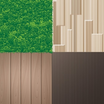 Set of natural textures for interior in eco minimalist style