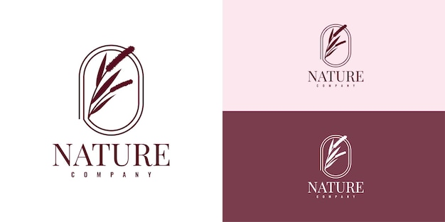 Set nature company logo illustration template design