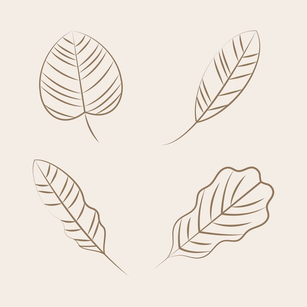 Set of nature ornament icons