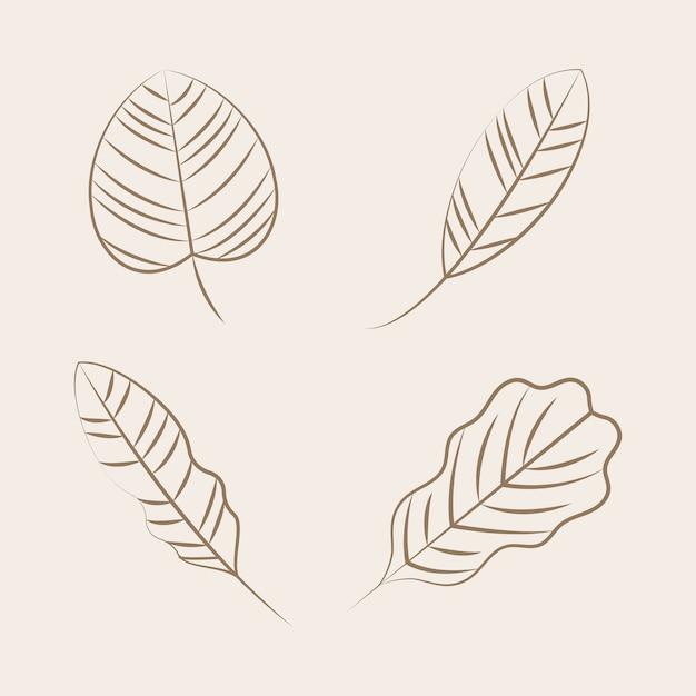 Set di icone di ornamento della natura