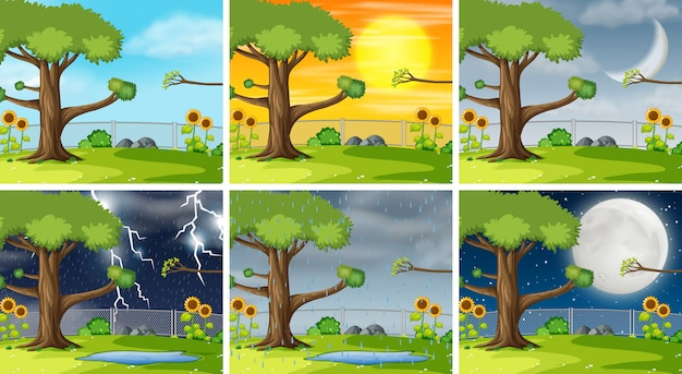 Set of nature pack background