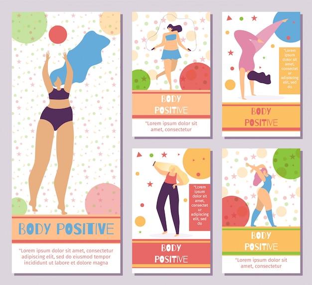 Сет сеть мобильных истории тело позитивный мотив
