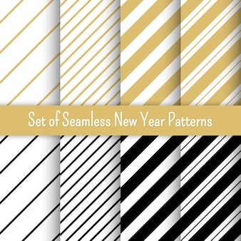Set of new year party patterns, . for banners and invitations.