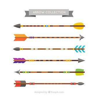 Set di belle frecce in design piatto