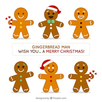 Set of nice and delicious gingerbread cookies