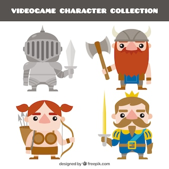 Set of nice videogame characters