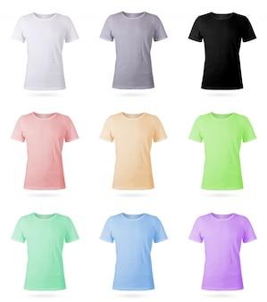 Set of nine mens t-shirt templates