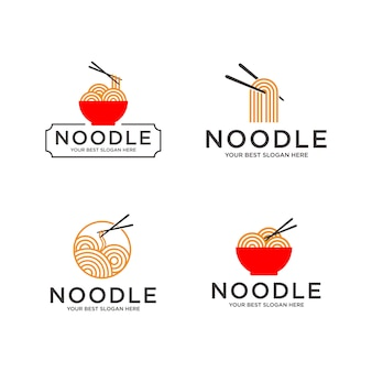 Set of noodle logo