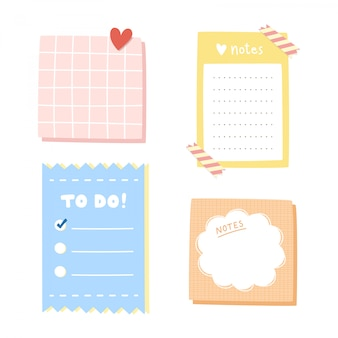 Set of notepaper.