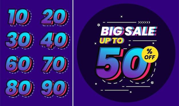 Set number of big sale for promotion