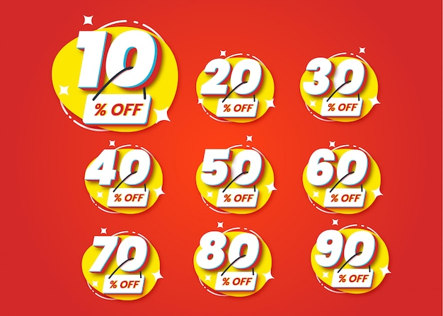 Set number special discount sign template design