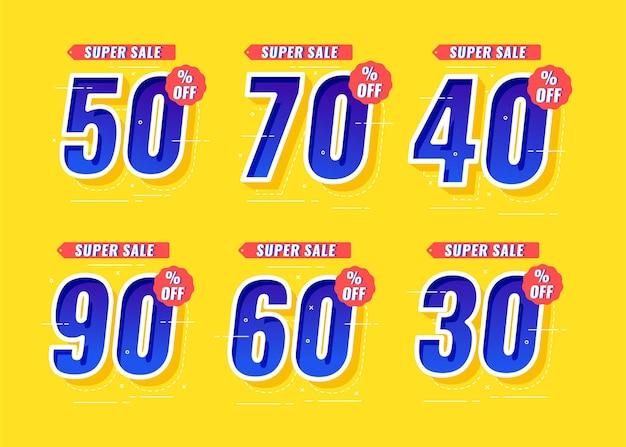 Set number of super sale for promotion