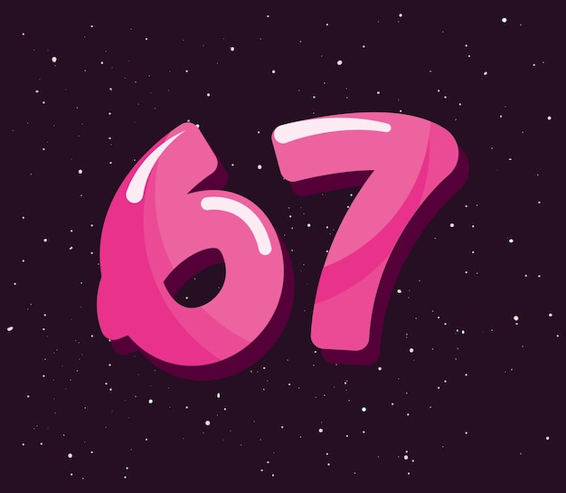 Set numbers comic style vector illustration design