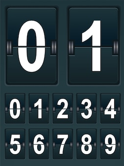 Set numbers for sports scoreboard