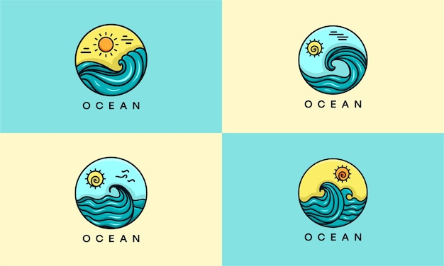 Set of ocean logo