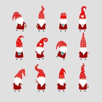Набор из 12 рождественских гномов