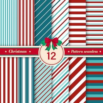 12 줄무늬 완벽 한 패턴의 집합입니다.