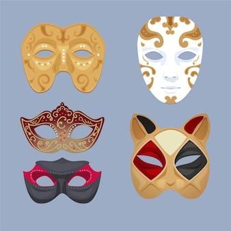 2dマスカレードマスクのセット