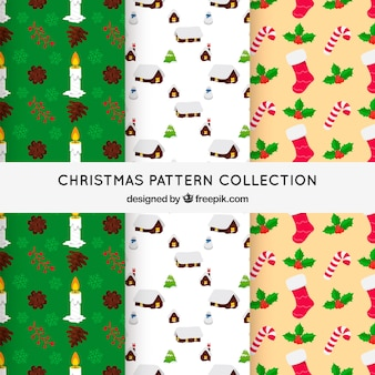 Set of 3 christmas patterns