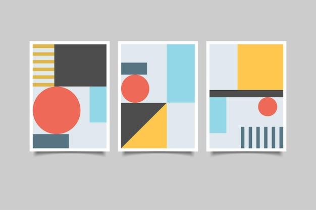 기하학적 벽 예술 컬렉션 3종 세트
