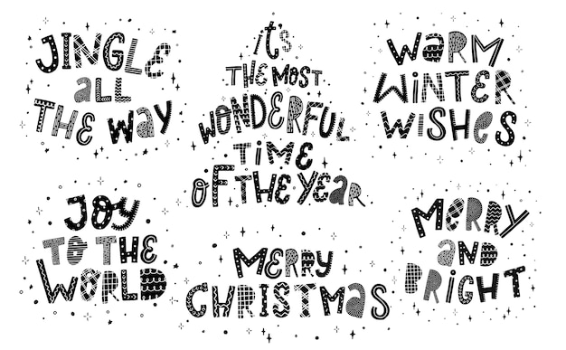 Набор из 6 рождественских цитат