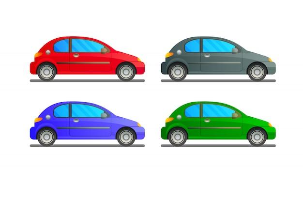 異なる色の車のセット
