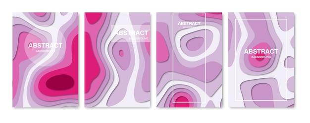 抽象的な3 d背景のセットです。