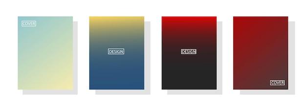 美しいグラデーションの色、ポスターチラシバナーbackdrop.verticalbanner.cool流体背景ベクトルイラストのカラフルな背景と抽象的な背景のセット