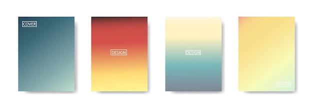아름다운 그라데이션 색상, 포스터 전단지 배너 배경에 대한 화려한 배경으로 추상적 인 배경 세트. 수직 banner.cool 유체 배경 벡터 일러스트 레이 션