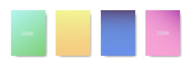 Набор абстрактного фона с красивой градацией цвета, красочный фон для плаката флаер баннер фон. вертикальный баннер. крутой жидкий фон векторные иллюстрации