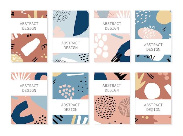 抽象的な背景デザインチラシのセット