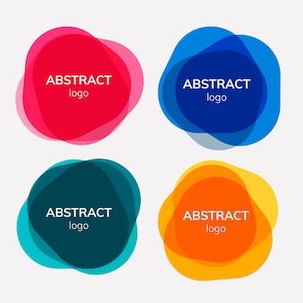 Набор абстрактных дизайнов для значков