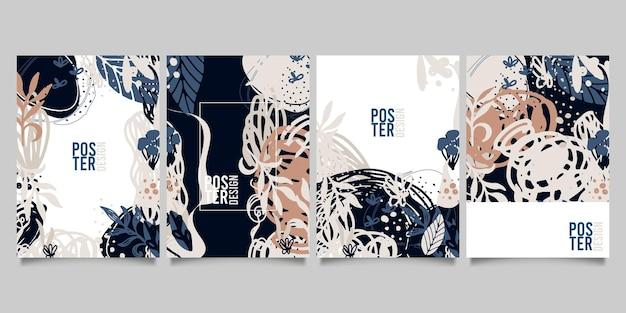 추상적이고 창의적인 보편적인 예술적 템플릿 집합입니다. 포스터, 카드, 초대장, 전단지, 표지, 배너, 현수막, 브로셔 및 기타 그래픽 디자인에 적합합니다.