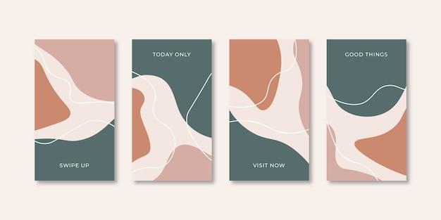 소셜 미디어를위한 추상 창조적 인 보편적 인 표지 디자인 템플릿 집합