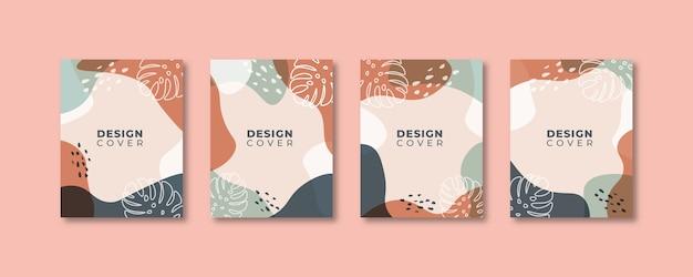 Набор абстрактных творческих универсальных шаблонов дизайна обложки.