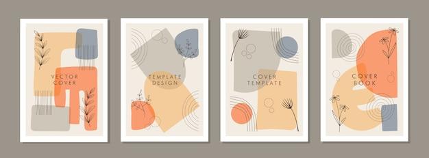 Набор абстрактных творческих универсальных шаблонов дизайна обложки