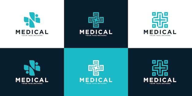Набор абстрактного креста плюс медицинский дизайн
