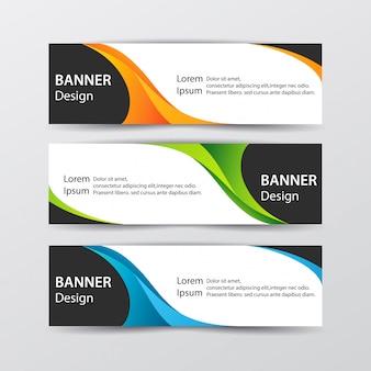 Набор абстрактных дизайн баннера веб-шаблона. иллюстрация