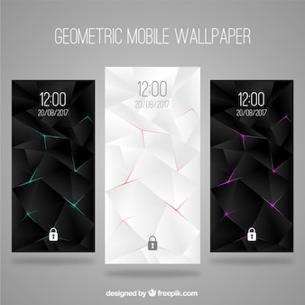 Set of abstract elegant wallpapers for mobile