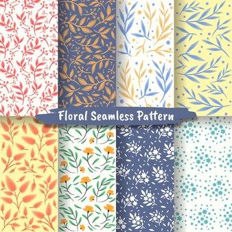 추상 꽃 원활한 패턴, 꽃 원활한 패턴 컬렉션의 집합