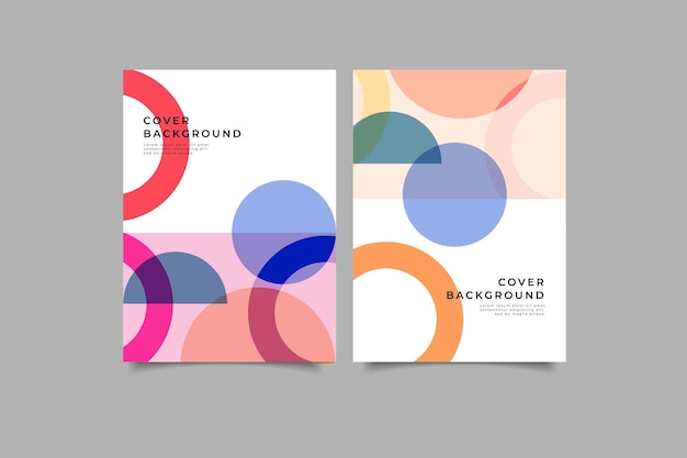 Набор абстрактных геометрических обложек