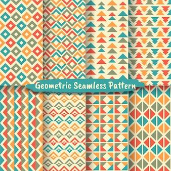 추상적인 기하학적 완벽 한 패턴 배경의 집합입니다. 그래픽 현대적인 패턴 질감 밝은 색상