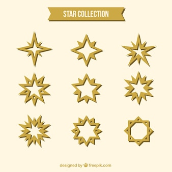 Set of abstract golden stars